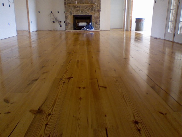 Yellow Pine Floorboards ~ Wood
